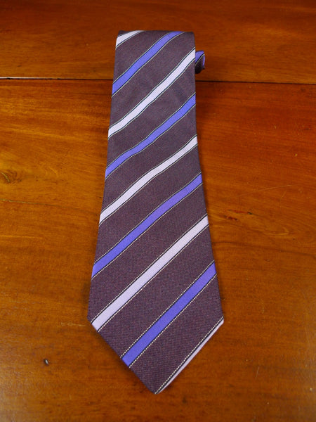 21/0064 immaculate dunhill london brown blue silver SILK TIE