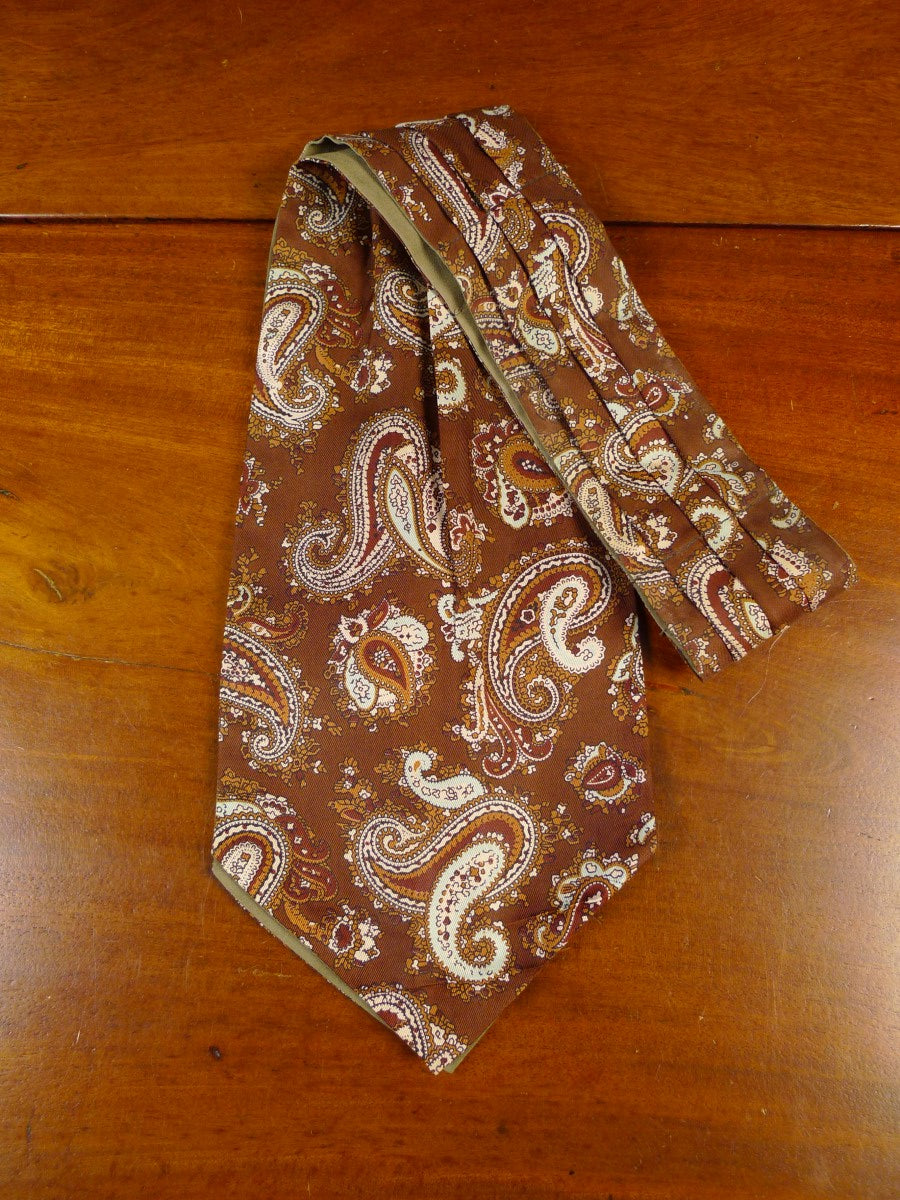 20/1246 immaculate brown paisley pattern silk cravat