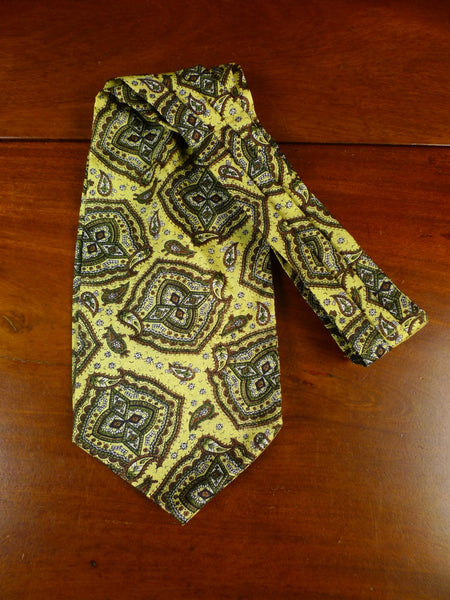 20/1234 immaculate sammy yellow paisley pattern cravat