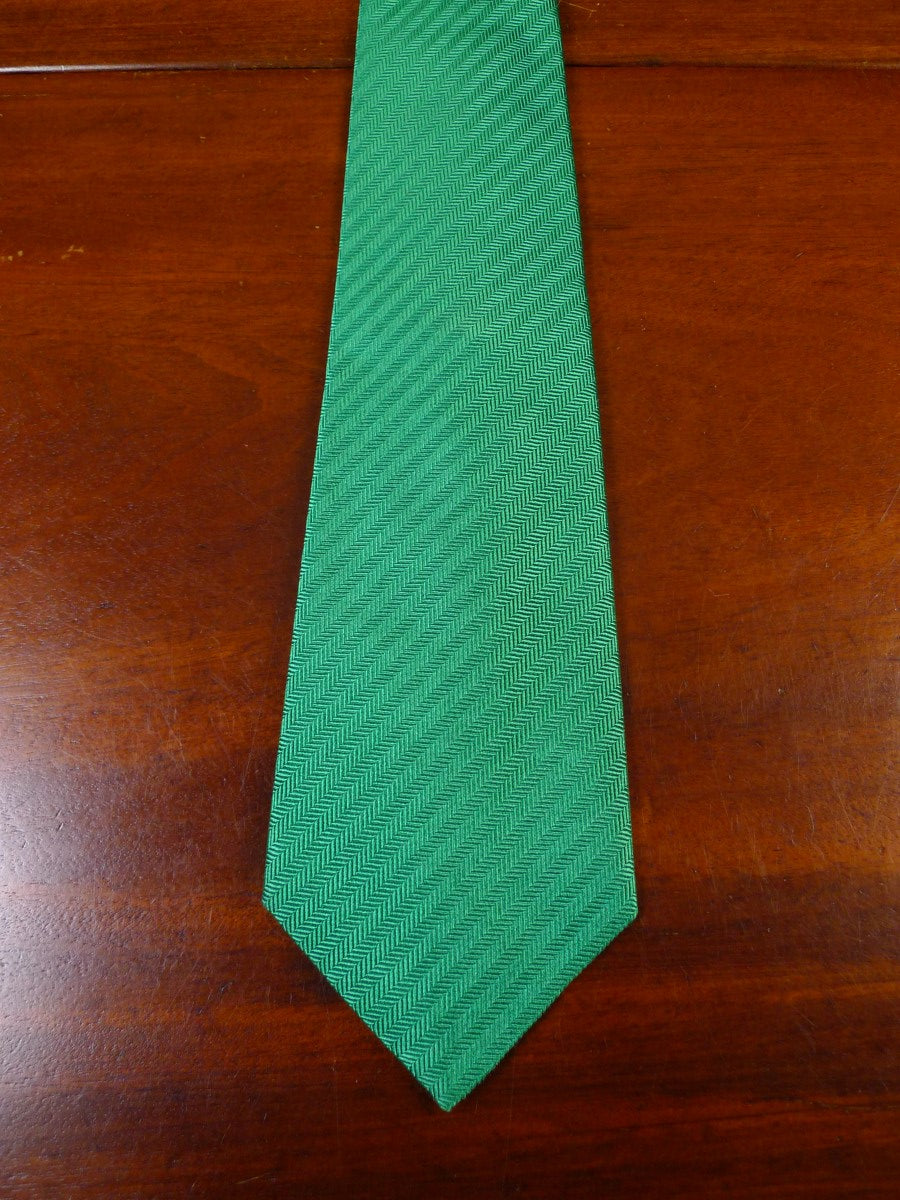 21/0093 brand new unworn turnbull & asser jermyn street green SILK TIE