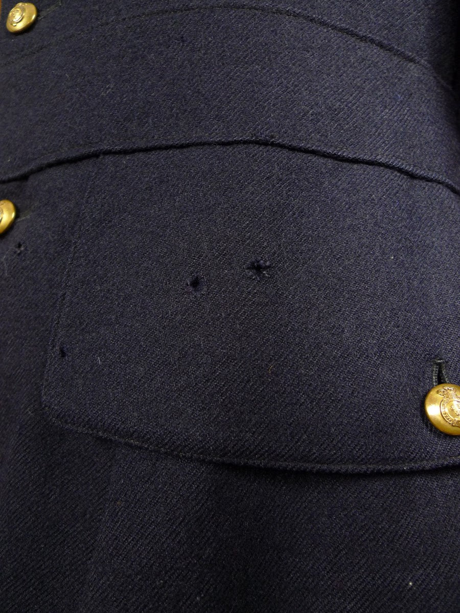 21/0116 antique ww1 era officer's tunic jacket w/ tria juncta badges for restoration 36