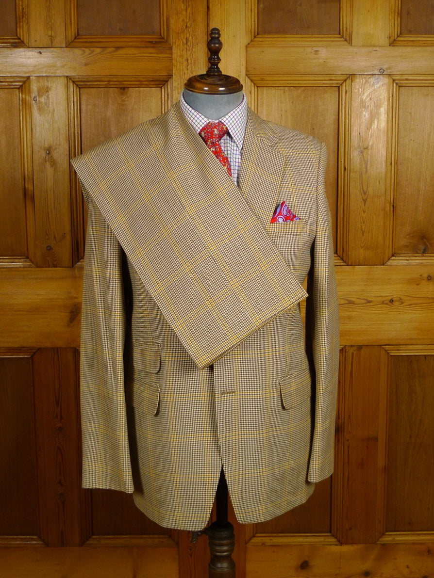 21/0130 superb vintage hector powe regent street bespoke gun club check worsted town & country suit 41 long