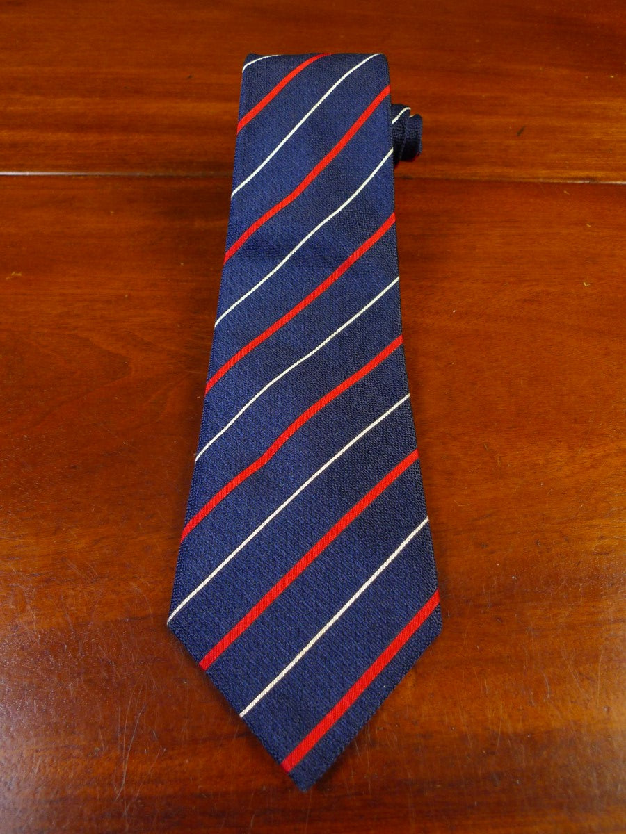 21/0195 immaculate Jermyn Street turnbull and asser blue red striped 100% silk tie