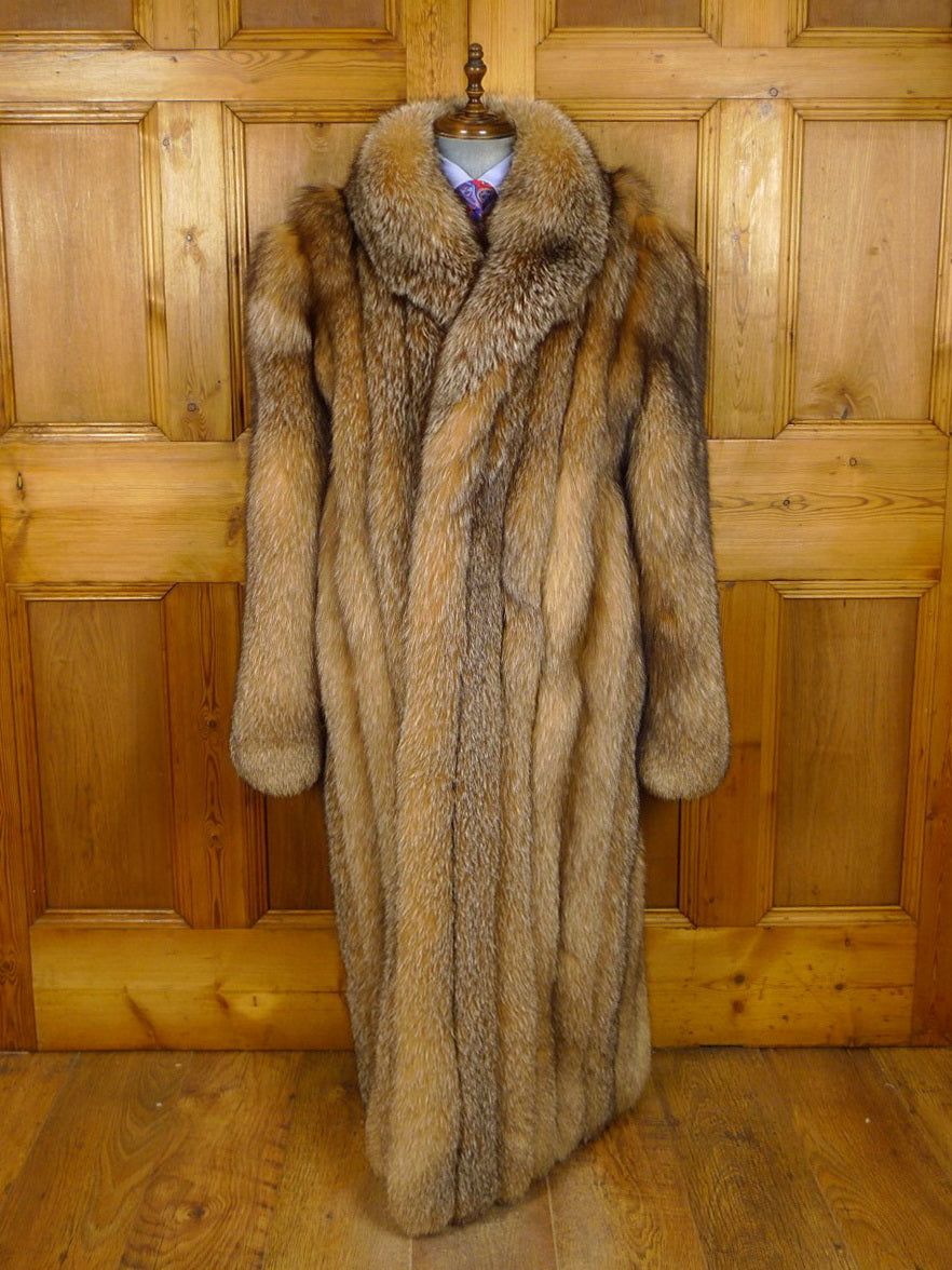 21/0204 immaculate madison avenue mall crystal fox full length mens overcoat (rrp £9k) 48