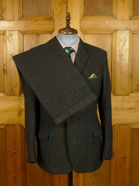 21/0227 wonderful 1950s 1960s vintage heavyweight harris tweed 2-piece suit 39-40 short to regular