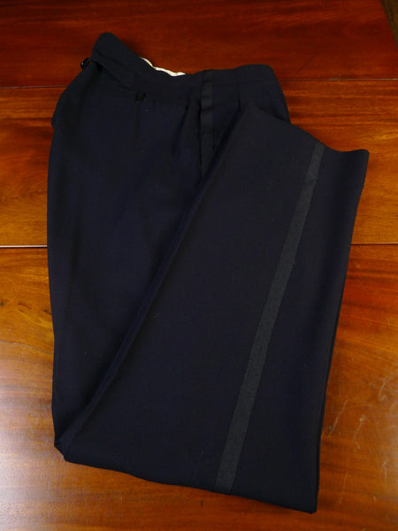 21/0237 vintage high-rise 1957 bespoke midnight blue evening trouser 35
