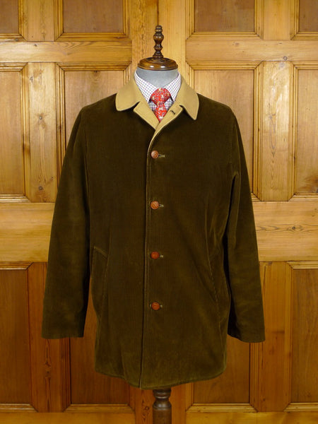 21/0245 near immaculate daks (invertere) green corduroy field coat jacket w/ wool backing 42