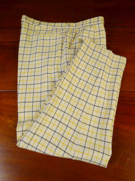 21/0248 wonderful vintage british wool flannel tattersall check country trouser 35-38