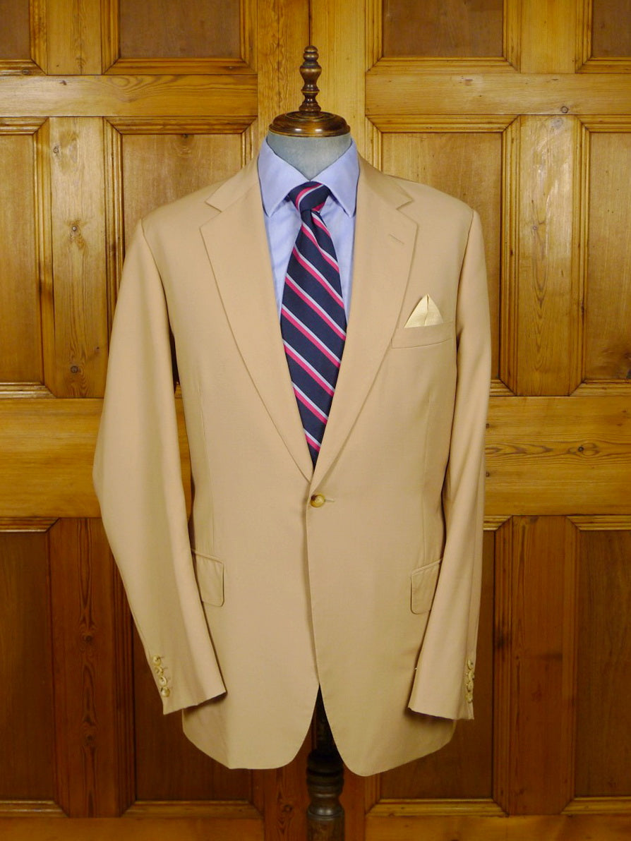 21/0361 immaculate huntsman 2009 savile row bespoke worsted travel blazer 46-47 extra long