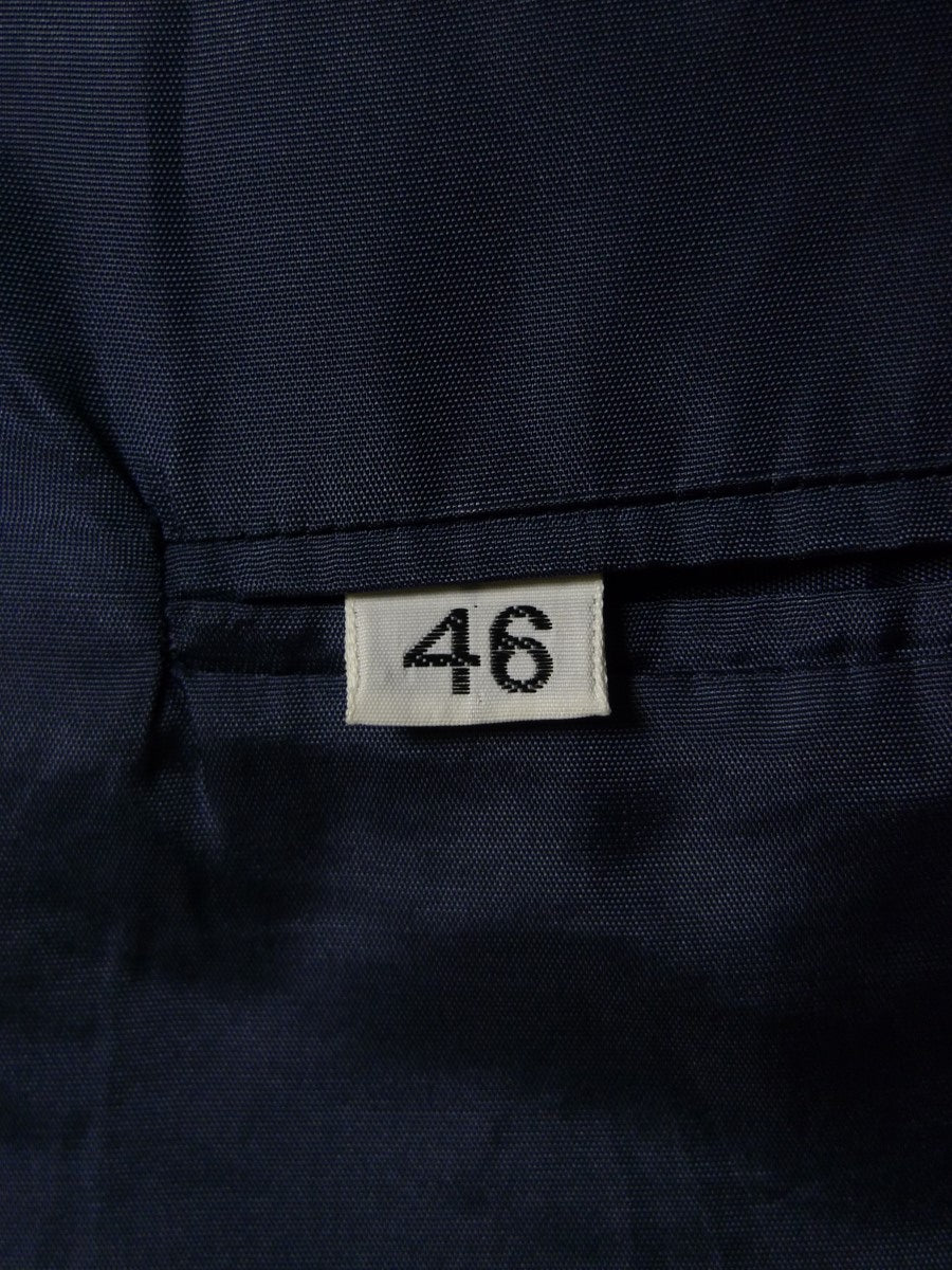 21/0362 immaculate navy blue pure cashmere blazer w/ gold buttons 45-46 regular
