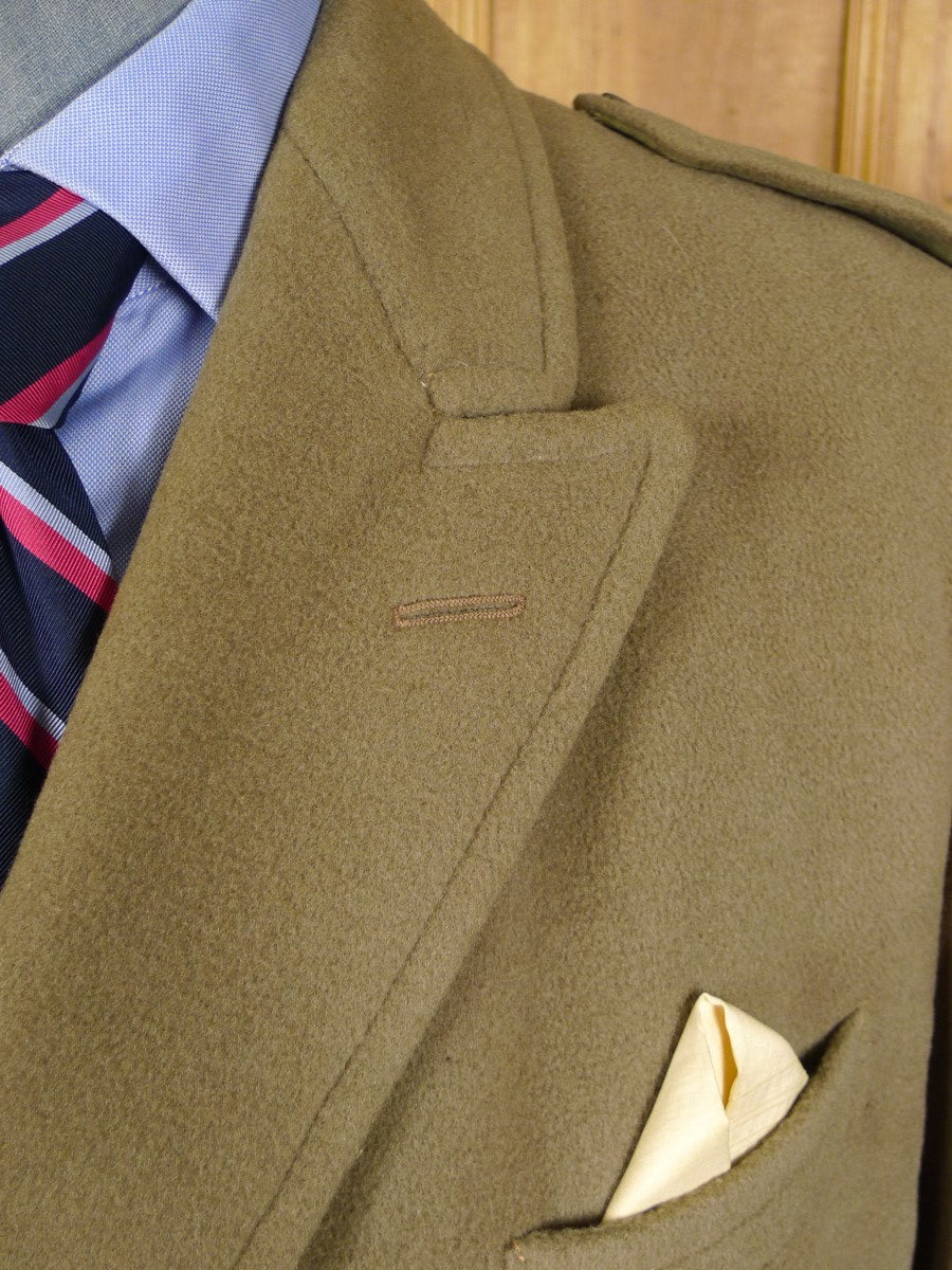 21/0384 very nice genuine 1960s vintage heavyweight crombie melton wool british warm overcoat 42 regular