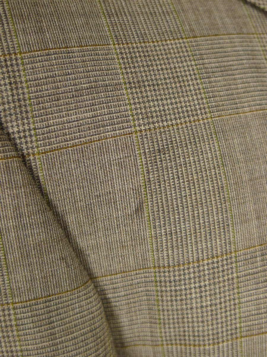 21/0435 vintage chester barrie savile row pale brown glen check super 100s town & country suit 46 long