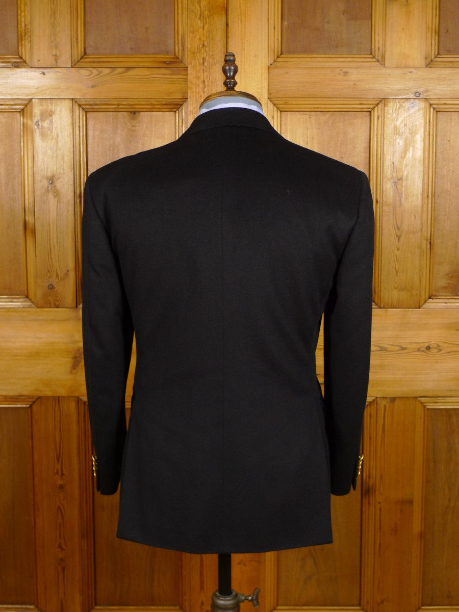 21/0450 immaculate italian tailored loro piana pure cashmere black blazer 39-40 short