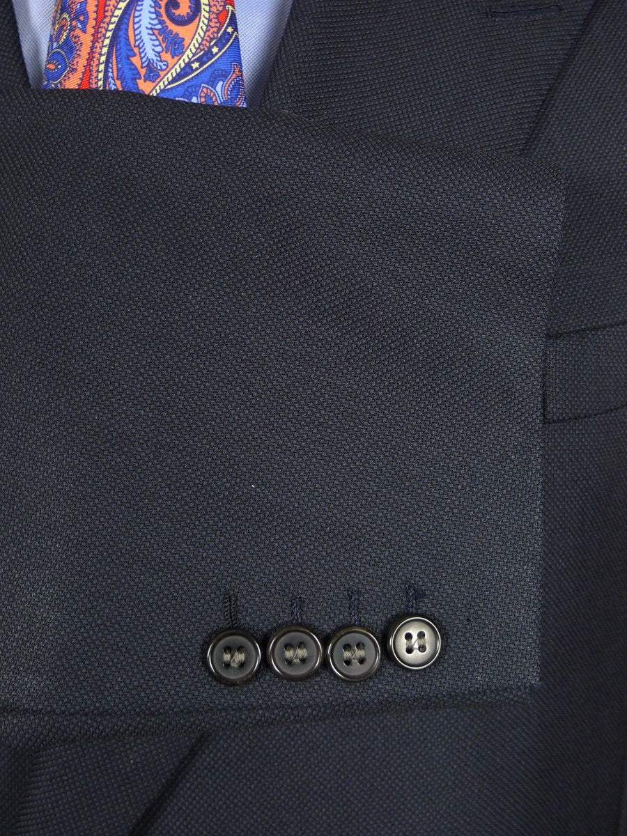 21/0461 vintage chester barrie hand tailored blue birds-eye weave d/b worsted suit 44 regular to long
