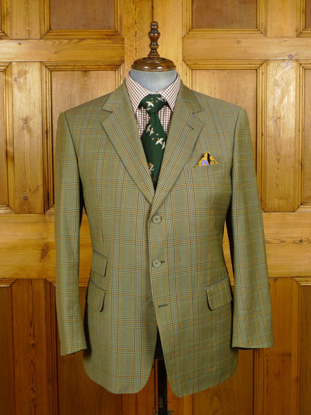 21/0480 vintage burberrys glen check worsted sports jacket 42-43 short