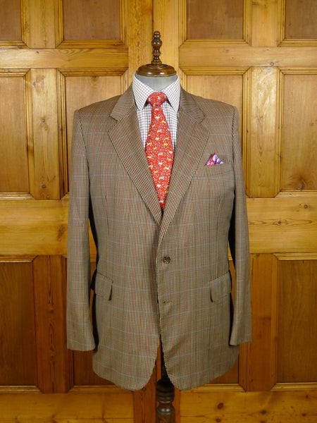 21/0474 vintage chester barrie savile row hand tailored gun check lighter weight sports jacket blazer 45 long