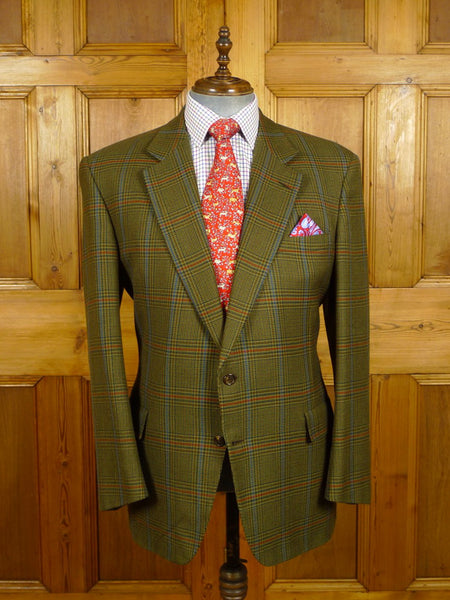 21/0473 vintage chester barrie savile row hand tailored glen check tweed sports jacket 46 regular