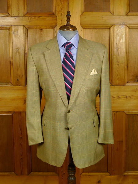 21/0486 vintage chester barrie for austin reed wool & 35% silk glen check lightweight sports jacket blazer 46 regular