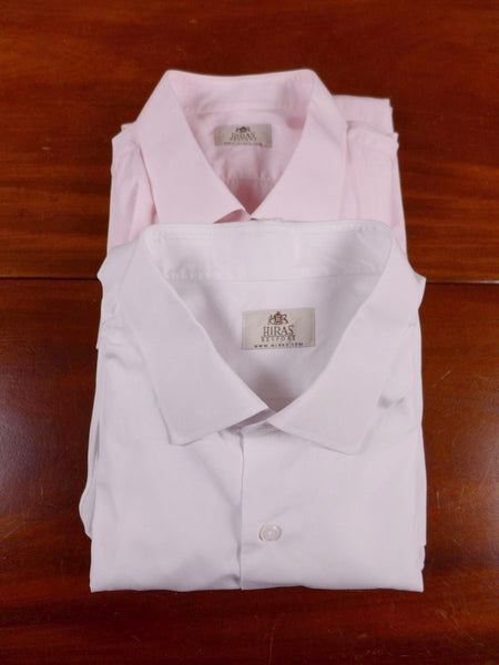 17/0214 Batch of 2 Hiras Bespoke Made Cotton Shirts 18.5