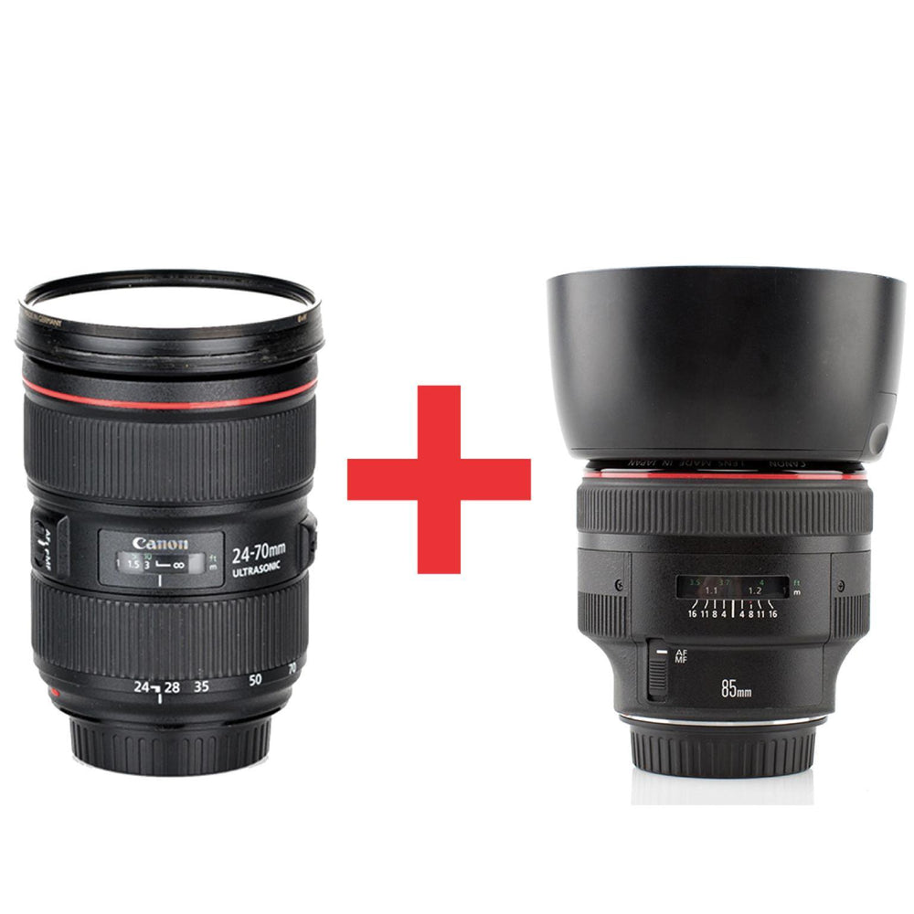 Canon EF 24-70mm f2.8L II USM + 85mm f1.2L II USM - Available with the LensLockers Equipment Access Program (LEAP)
