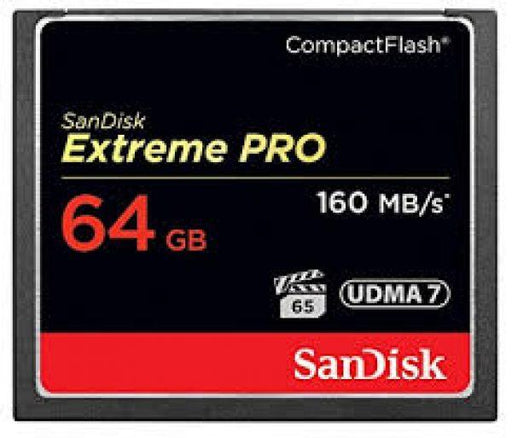 Sandisk Extreme Pro 64GB Compact Flash - Available with the LensLockers Equipment Access Program (LEAP)