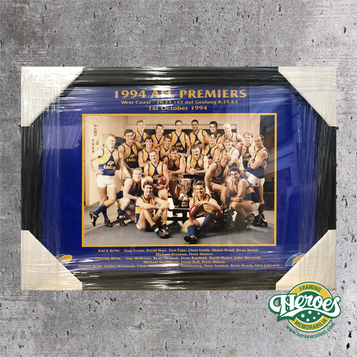 1994 WCE AFL Premiership Team Photo - Heroes Framing & Memorabilia