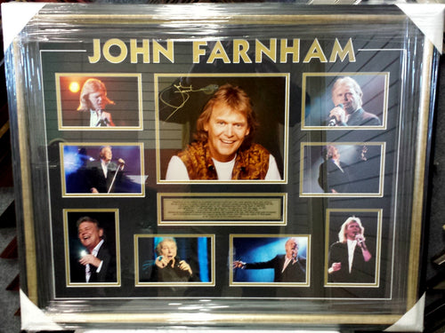 JOHN FARNHAM SIGNED PHOTO COLLAGE - Heroes Framing & Memorabilia
