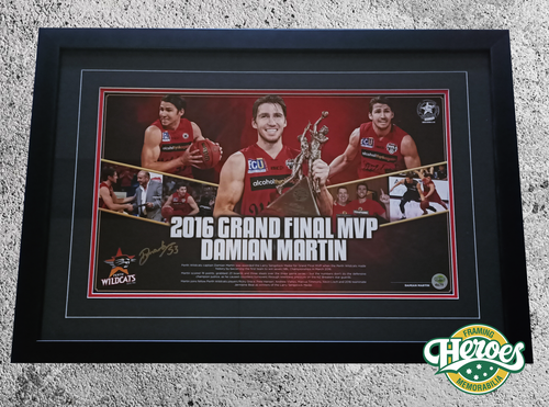 2016 Grand Final MVP Damian Martin signed poster - Heroes Framing & Memorabilia