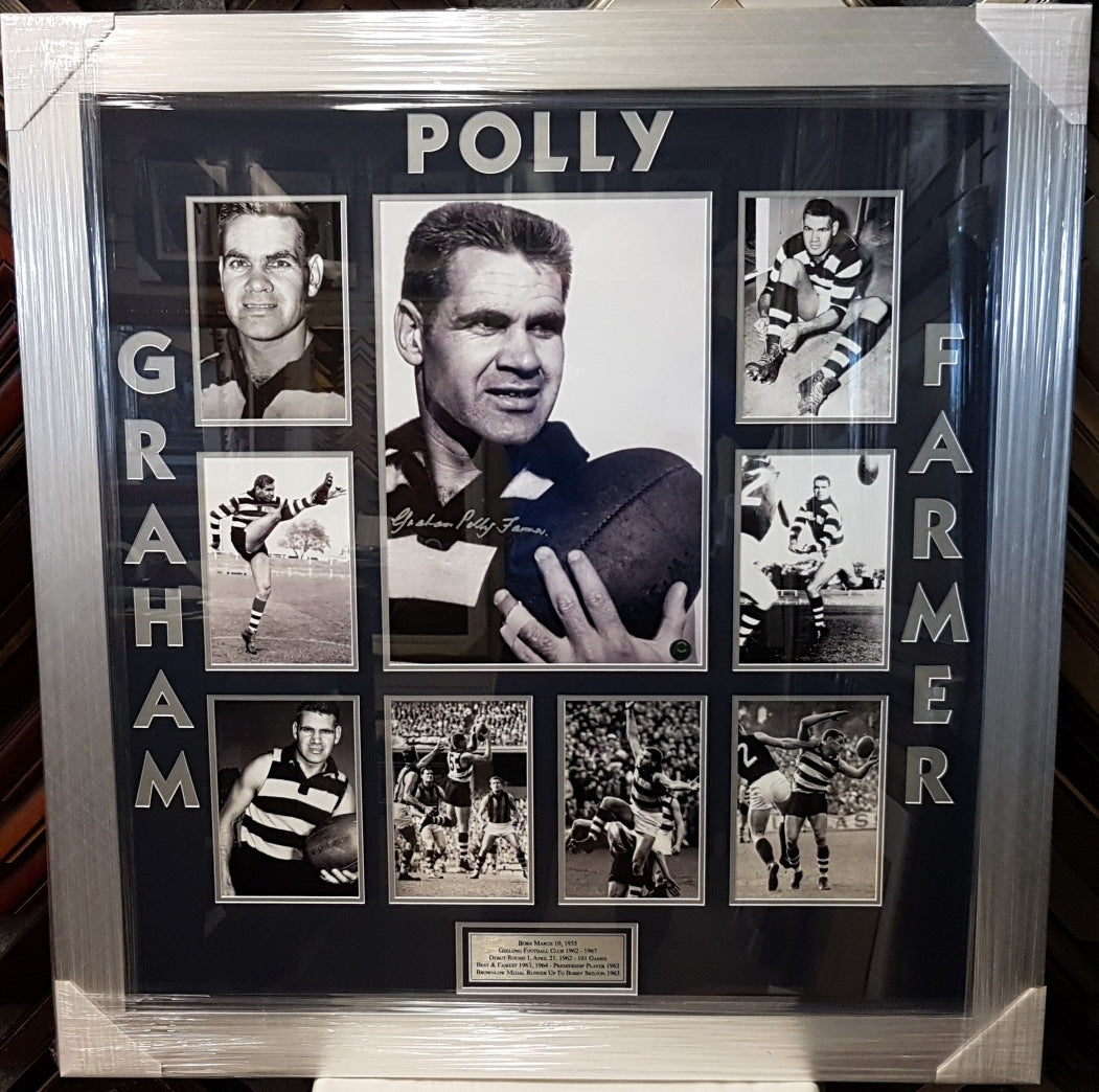 GRAHAM POLLY FARMER SIGNED PHOTO COLLAGE - Heroes Framing & Memorabilia