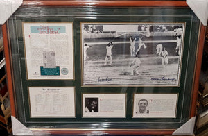 THE TIED TEST 1960 SIGNED WES HALL AND RICHIE BENAUD LTD ED - Heroes Framing & Memorabilia