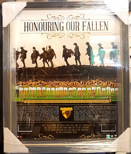 "HAWTHORN ""HONOURING OUR FALLEN"" SIGNED CAPTAIN AND COACH LTD ED - Heroes Framing & Memorabilia"