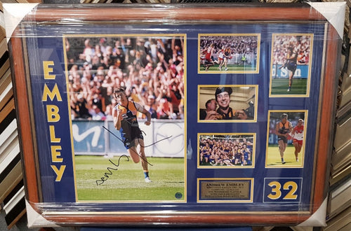 ANDREW EMBLEY 2006 GF NORM SMITH MEDALLIST SIGNED - Heroes Framing & Memorabilia