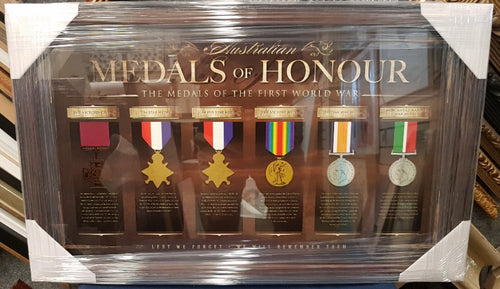 MEDALS OF HONOUR WW1 LTD ED PRINT - Heroes Framing & Memorabilia