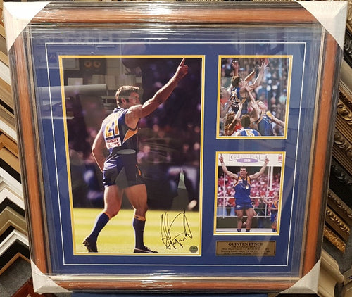 QUINTEN LYNCH 2006 GRAND FINAL SIGNED COLLAGE - Heroes Framing & Memorabilia