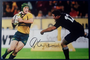 "GITS SIGNED WALLABIES 12X18"" PHOTO. COA - Heroes Framing & Memorabilia"