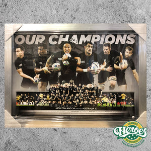 All Blacks - 2015 Rugby Union World Cup - Our Champions Sportsprint - Heroes Framing & Memorabilia