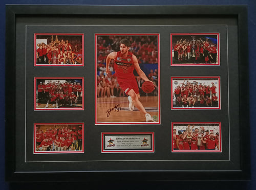 Damian Martin signed championship photos montage - Heroes Framing & Memorabilia