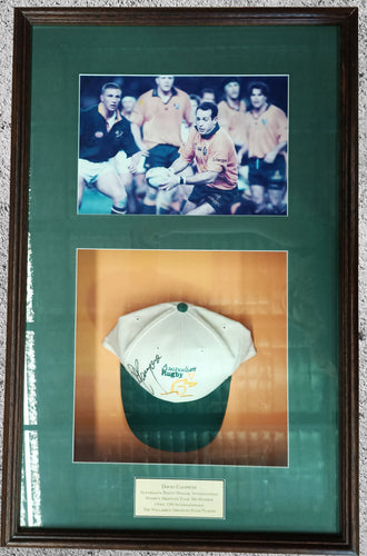 David Campese signed hat - Heroes Framing & Memorabilia