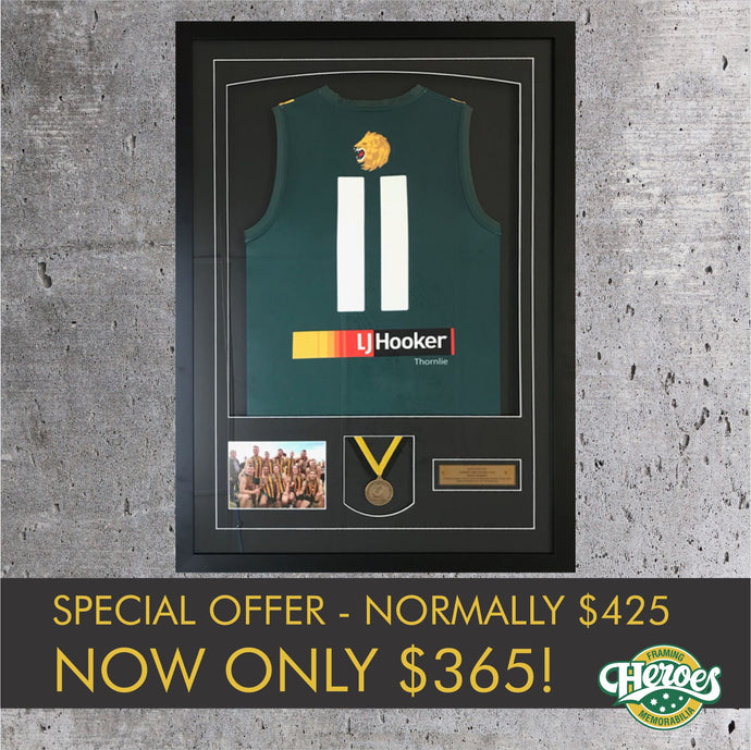 Grand Final Guernsey Framing Offer - Heroes Framing and  Memorabilia