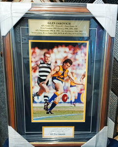 Glen Jakovich framed print and autograph - Heroes Framing & Memorabilia