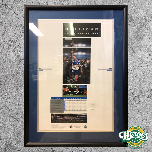 Above and beyond - Daryl Halligan Frame - Heroes Framing & Memorabilia