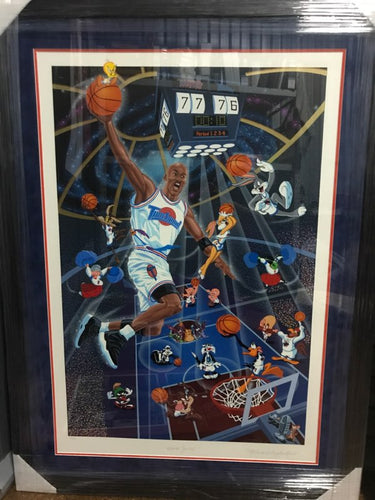 MICHAEL JORDAN SPACE JAM LTD ED PRINT - Heroes Framing & Memorabilia