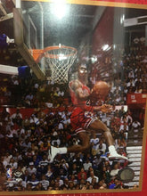 Load image into Gallery viewer, MICHAEL JORDAN BULL JERSEY WITH SIGNED AIR PHOTO