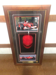 MICHAEL SCHUMACHER SIGNED WORLD CHAMPIONSHIP CAP - Heroes Framing & Memorabilia