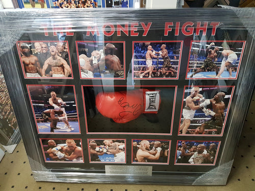 Floyd Mayweather Jr. vs. Conor McGregor Signed Glove Money Fight