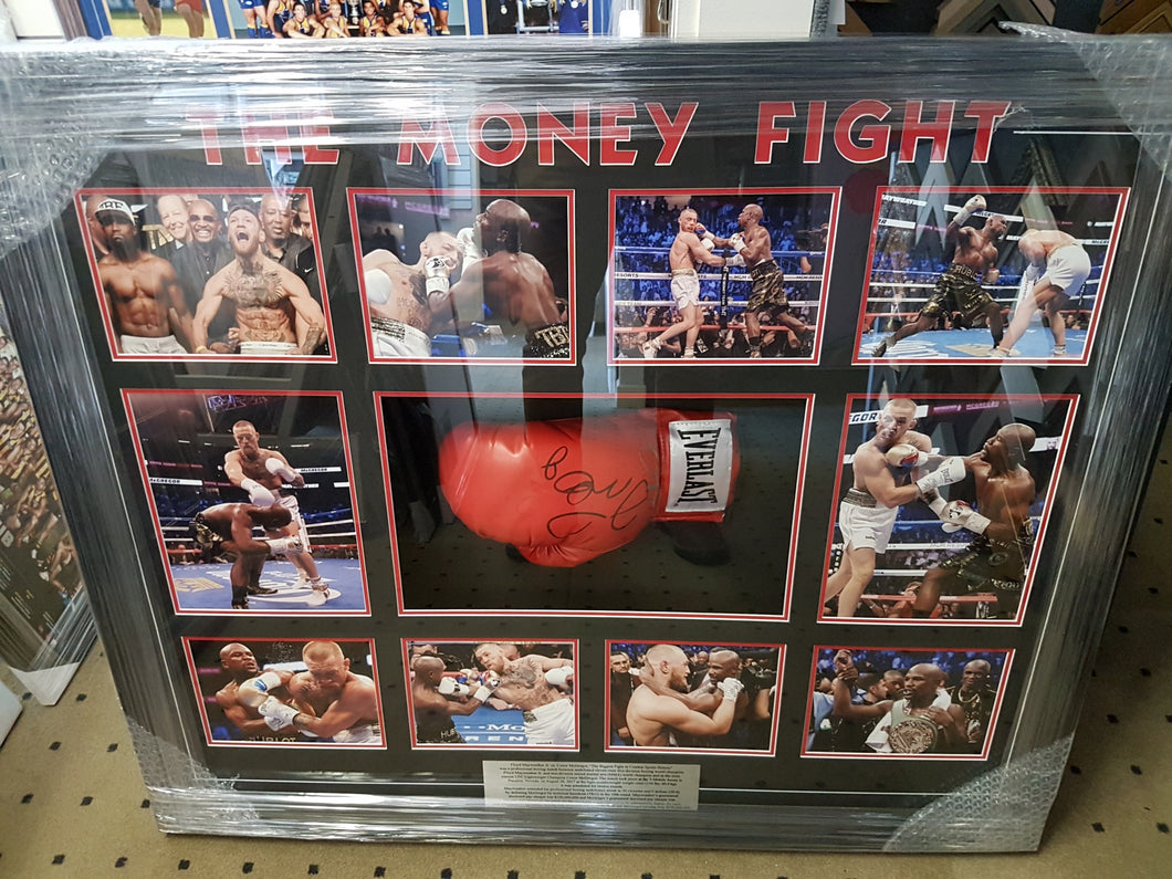 Floyd Mayweather Jr. vs. Conor McGregor Signed Glove Money Fight - Heroes Framing & Memorabilia