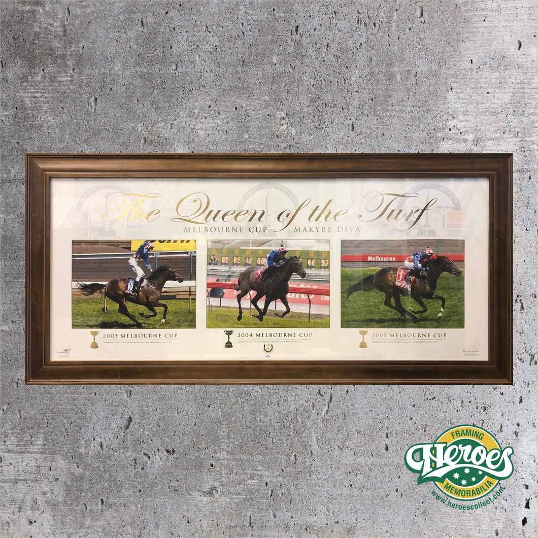 MAKYBE DIVA – QUEEN OF THE TURF LIMITED EDITION FRAMED PRINT - Heroes Framing & Memorabilia