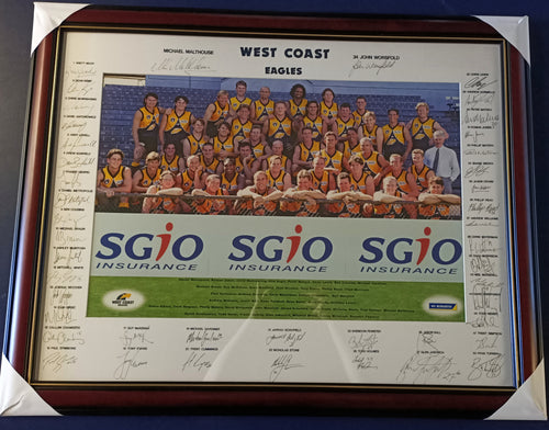 WCE team signed photo 1997 - Heroes Framing & Memorabilia