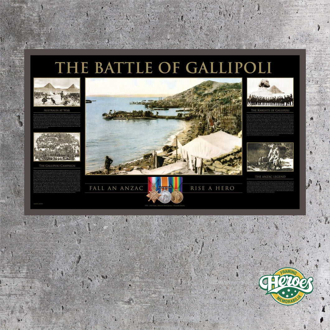 MILITARY – THE BATTLE OF GALLIPOLI PRINT - Heroes Framing and  Memorabilia