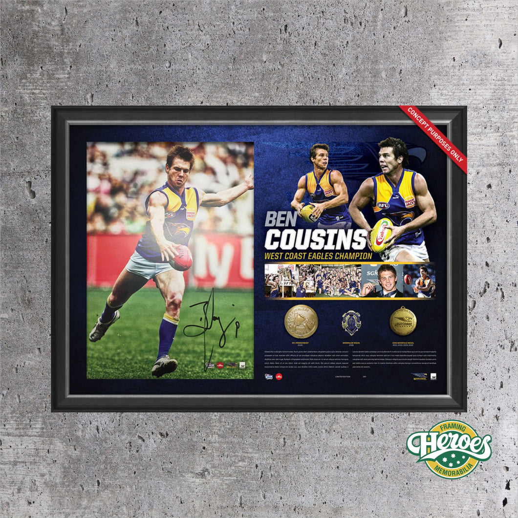 Ben Cousins Signed Career Lithograph - Heroes Framing and  Memorabilia